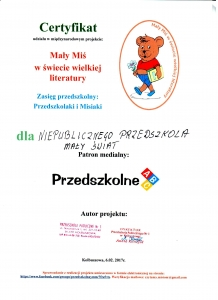 Mały Miś w świecie wielkiej literatury - zasięg przedszkolny